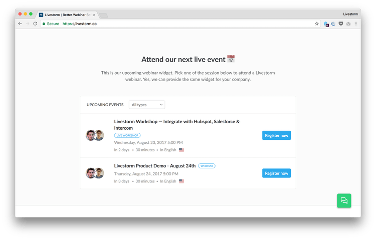livestorm website