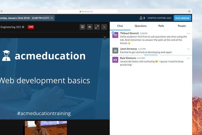Le webinar peut transformer votre salle de classe.