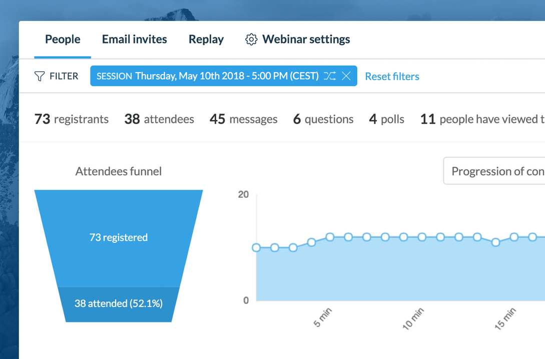 Analytics on your live events