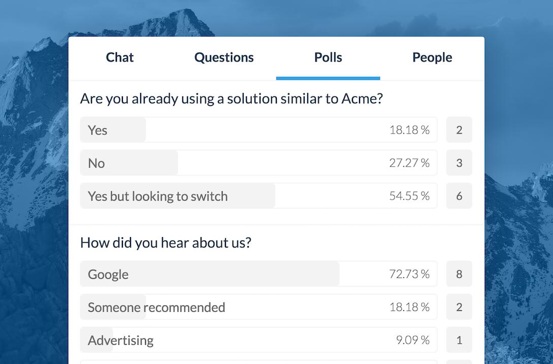 Real-time reusable polls