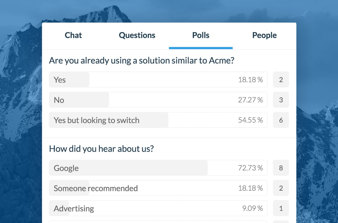 Real-time reusable polls