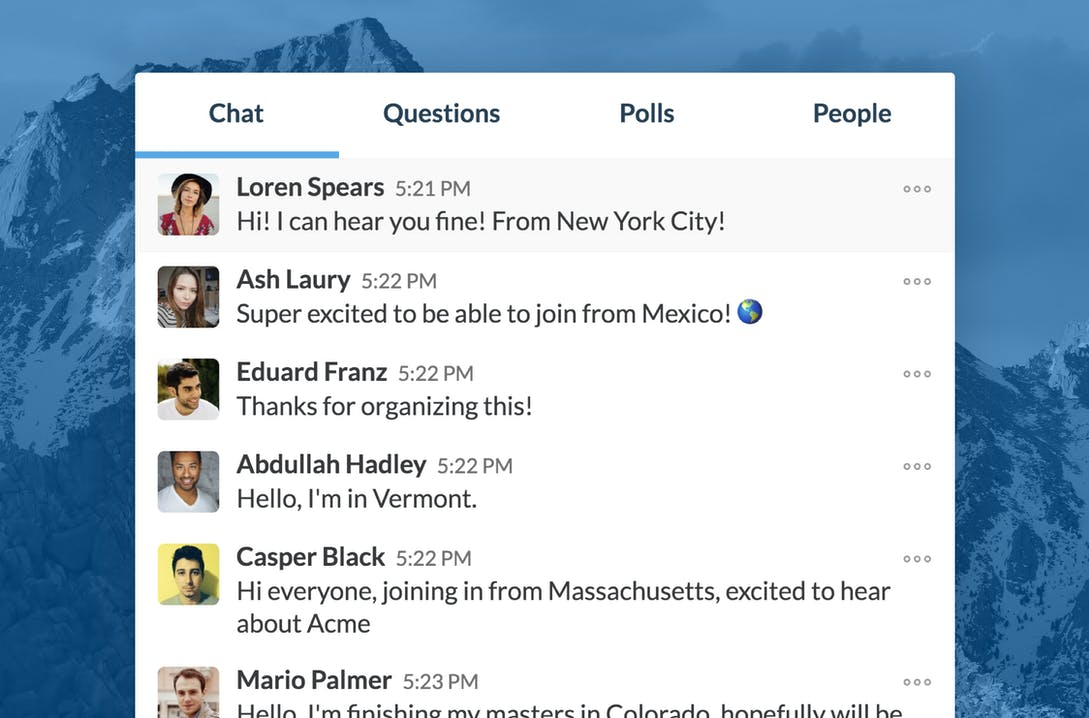Chat with your audience in real-time