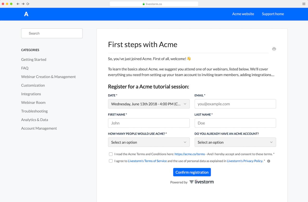Webinar Promotion Embed Registration Form