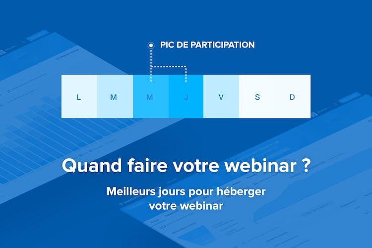 Promotion de Webinar Quand faire Votre Webinar