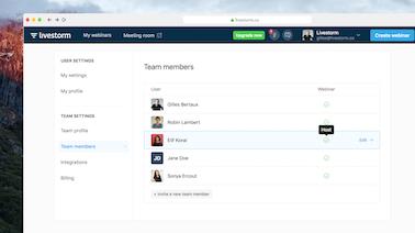 Livestorm Webinars for Teams