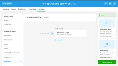 5 Ways to use Automatic Redirect After your Webinar Ends
