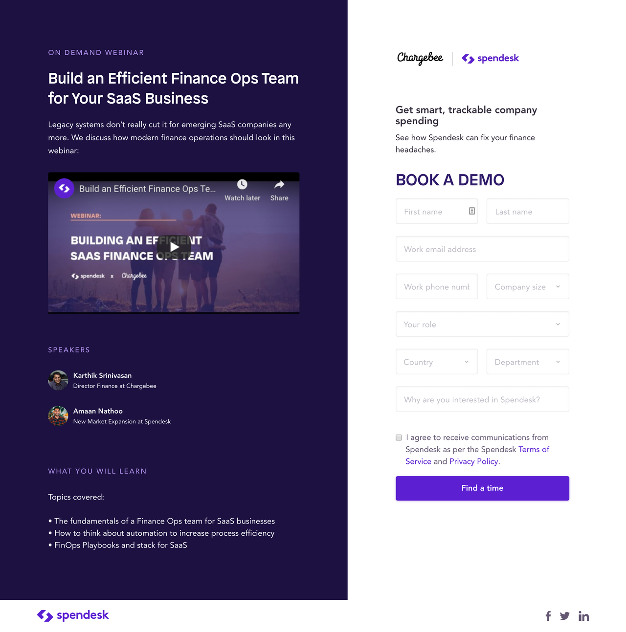 spendesk landing page example