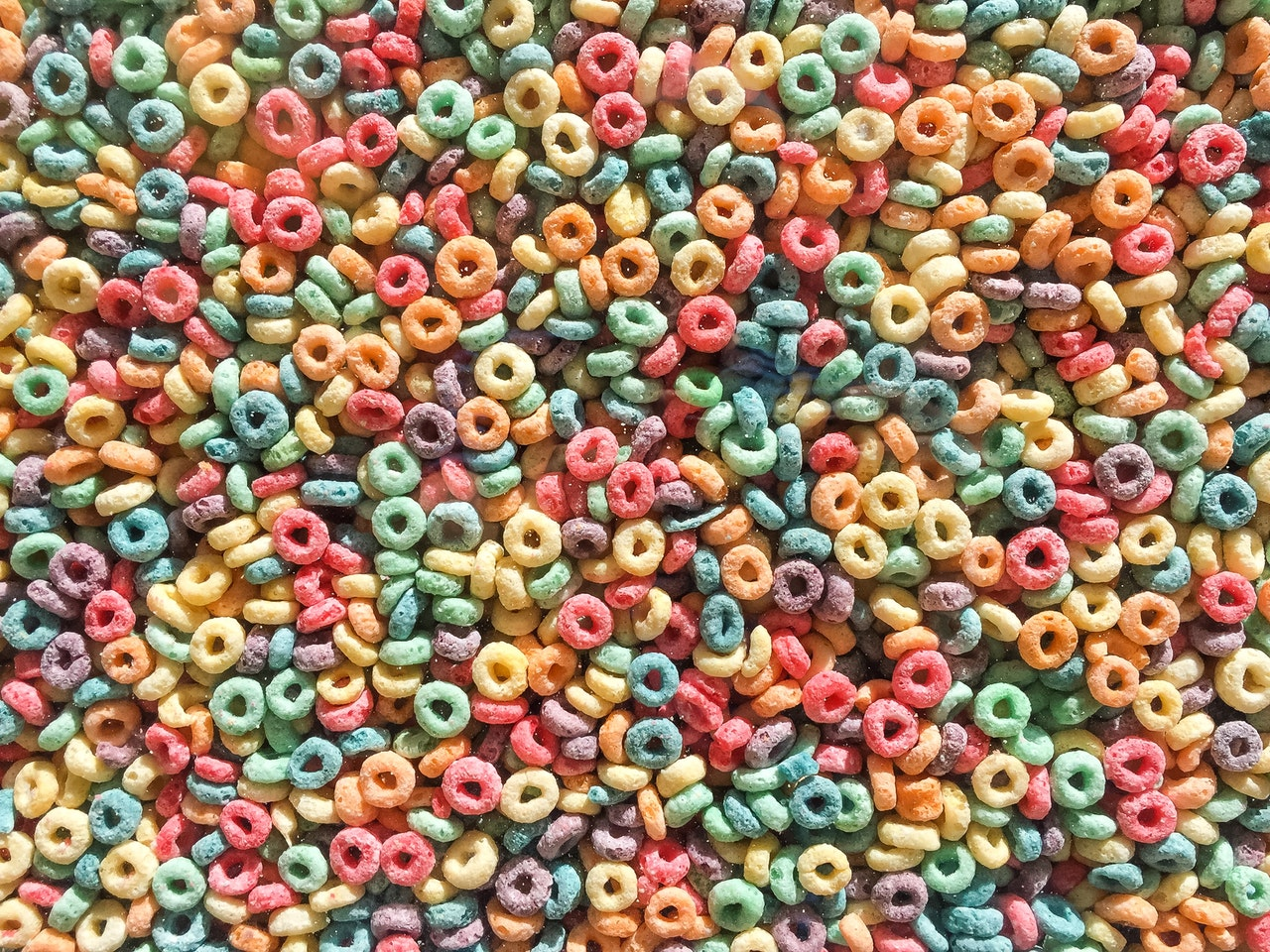 colorful cereals
