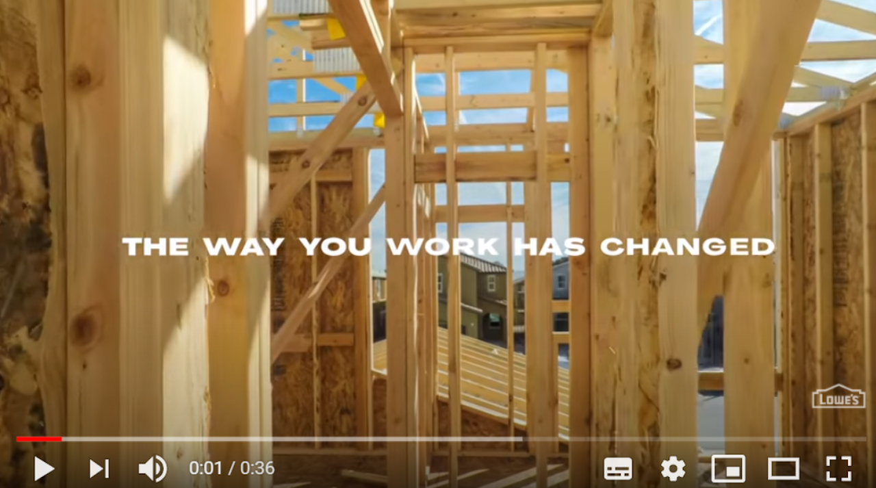 youtube video displaying sentence: The way you work has changed