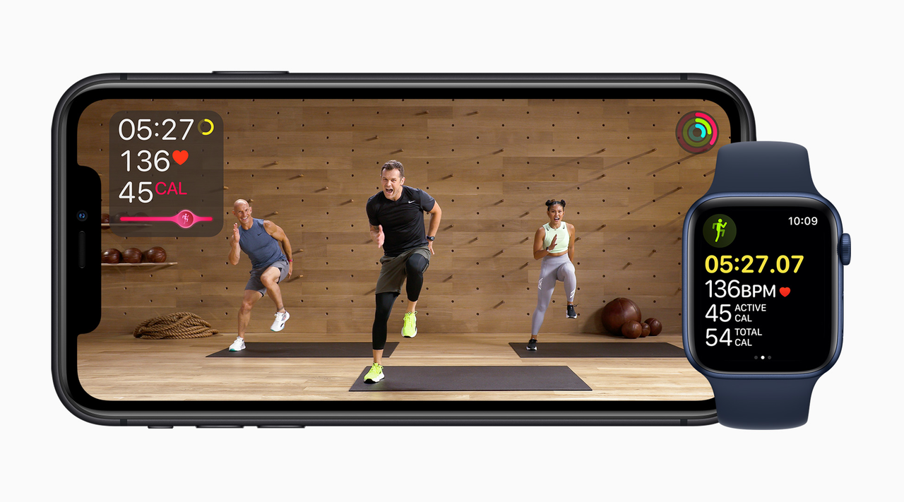 fitness video on a smartphone