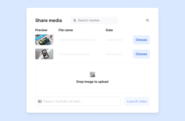 share media screen