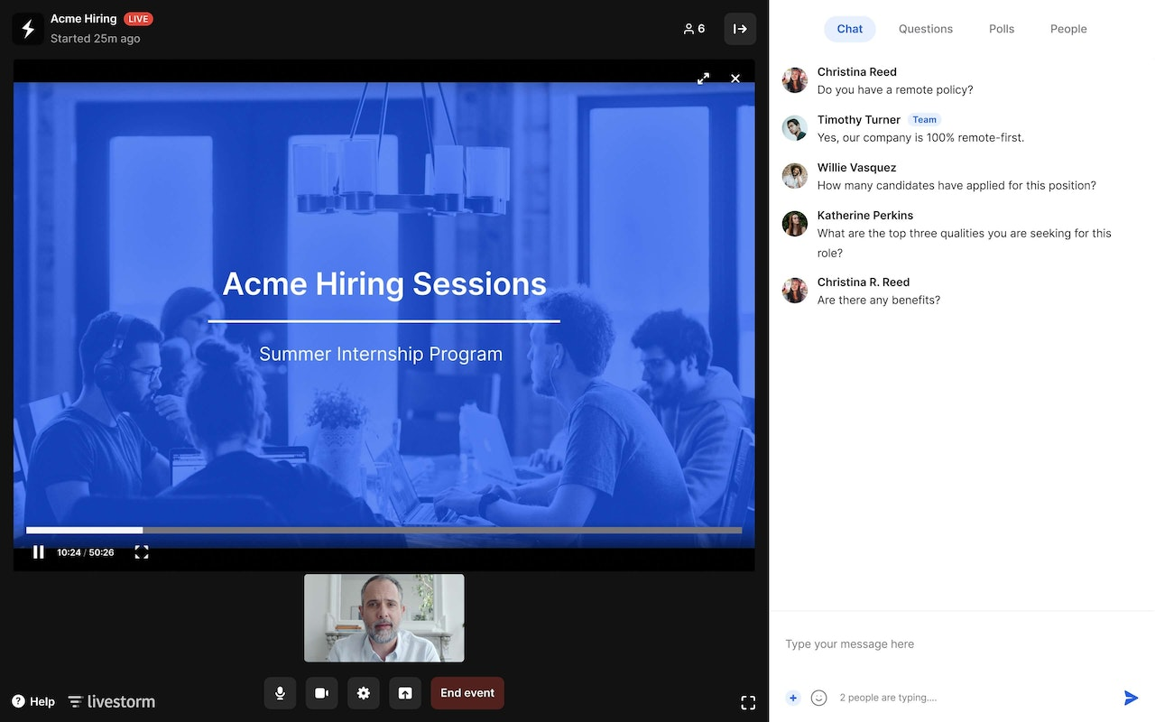 Scalable Web Conferencing Software for HR Teams