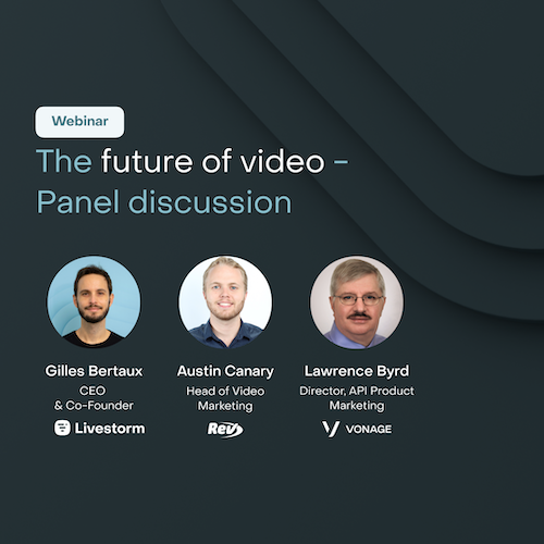 The Future of Video - Panel discussion
