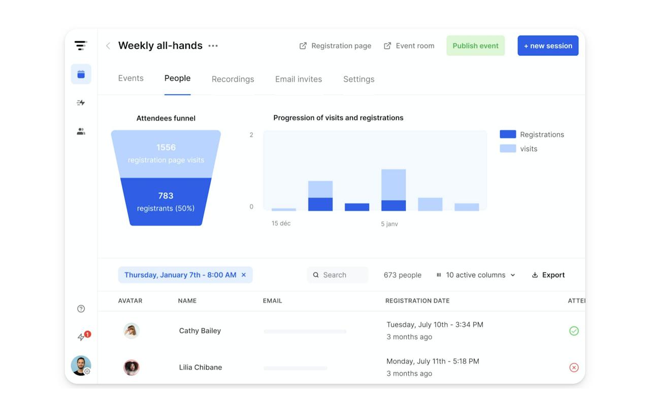 Livestorm product screenshot