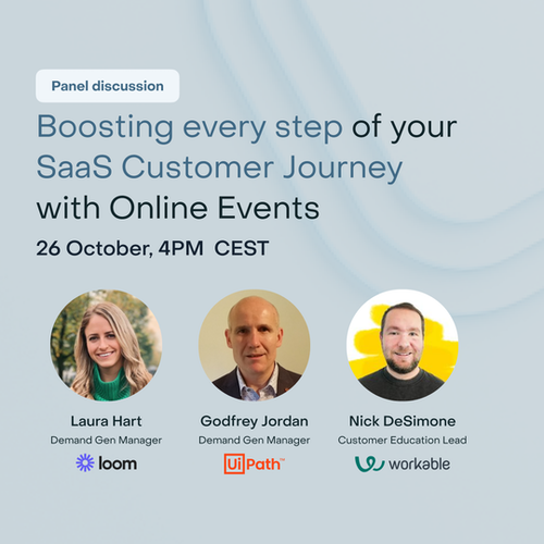 Boosting every step of your SaaS Customer Journey with Online Events